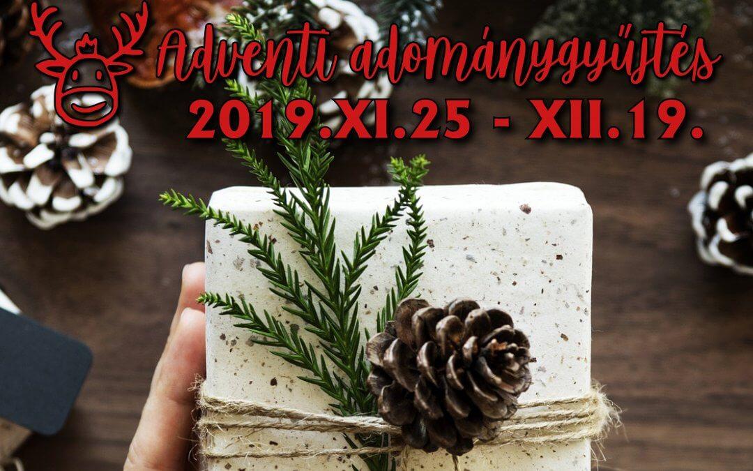 ADVENTI ADOMÁNYGYŰJTÉS A MÉNESBIRTOK ISKOLÁJÁBAN 2019.XI.25 – XII.19
