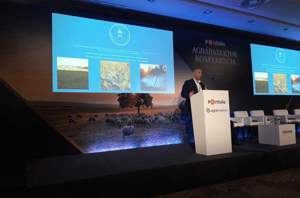 Digitális mezőgazdaság Mezőhegyesen – Méreg Tibor tartott előadást az Agrárszektor Konferencián